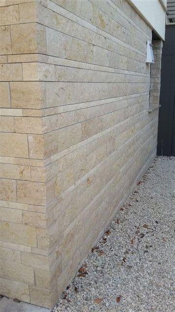 Natursteinverblender Außenwand Keller